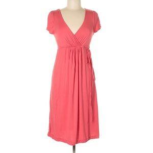NWT J.CREW Short Sleeve V-Neck Tie Waist Dress